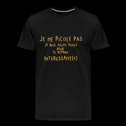 Je ne picole pas (1c) - T-shirt Premium Homme