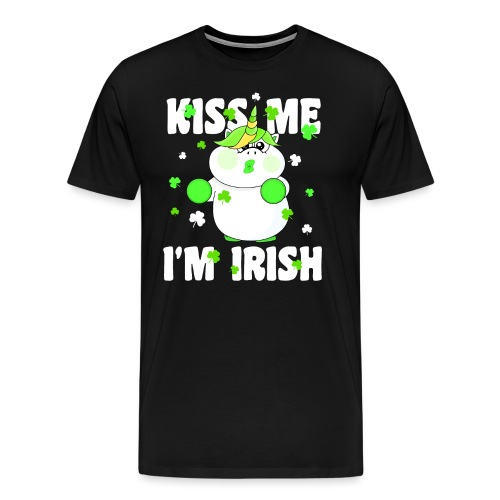 Kiss me I'm Irish Unicorn Einhorn - Männer Premium T-Shirt