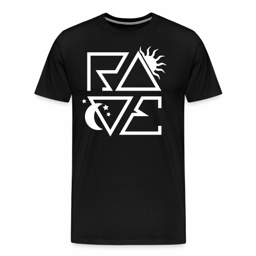 RAVE Day n Night Afterhour Clubbing Techno Party - Männer Premium T-Shirt
