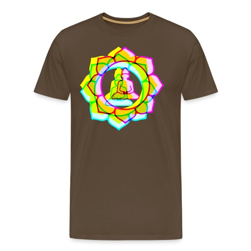 colorful BUDDHAS in Lotusblüte - Männer Premium T-Shirt