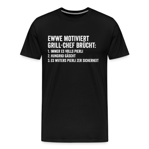 MOTIVERTER GRILL-CHEF - Männer Premium T-Shirt