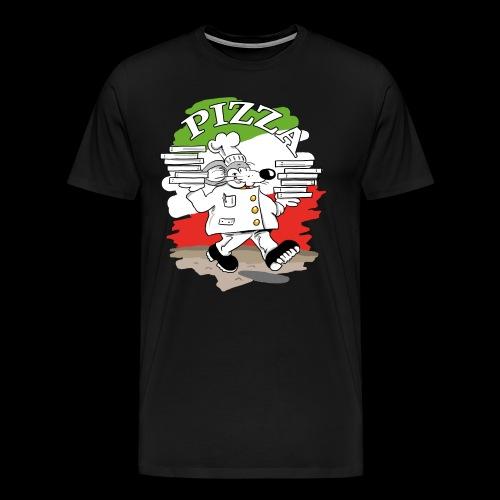 Pizza Lieferdienst - Männer Premium T-Shirt