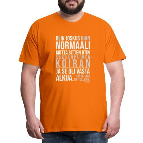 Vasta Alkua Seefferi III - Miesten premium t-paita