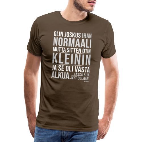Vasta Alkua Kleini - Miesten premium t-paita
