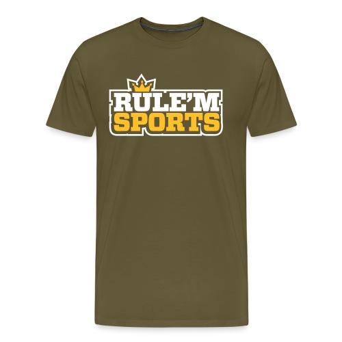 rulem sports vector white outline - Men's Premium T-Shirt