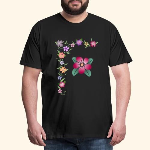 Blumenranke, Blumen, Blüten, floral, blumig, bunt - Männer Premium T-Shirt