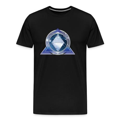 kosmische Pyramide - Männer Premium T-Shirt
