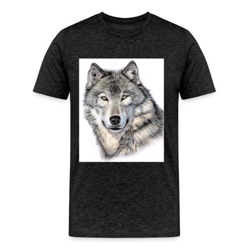 Der Wolf - Männer Premium T-Shirt