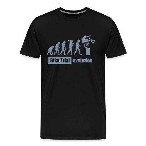 Bike Trial Evolution, mit Text - Men's Premium T-Shirt