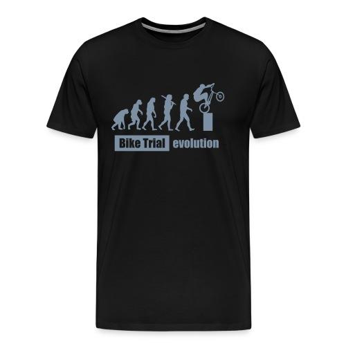 Bike Trial ewolucja, z tekstem - Men's Premium T-Shirt