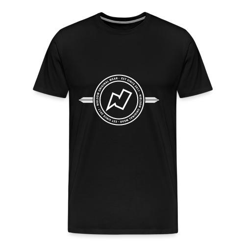 Nielsow cirkel design Wit png - Mannen Premium T-shirt