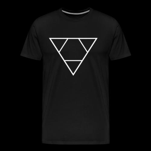 Logo Laredo Fin (blanc) - T-shirt Premium Homme