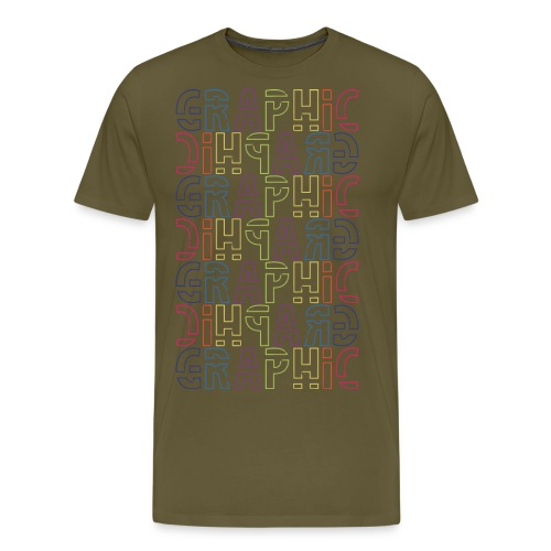 graficzny - Koszulka męska Premium