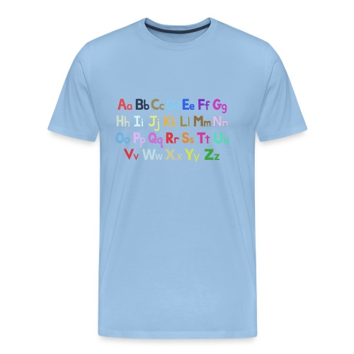 alphabet 2 - Men's Premium T-Shirt
