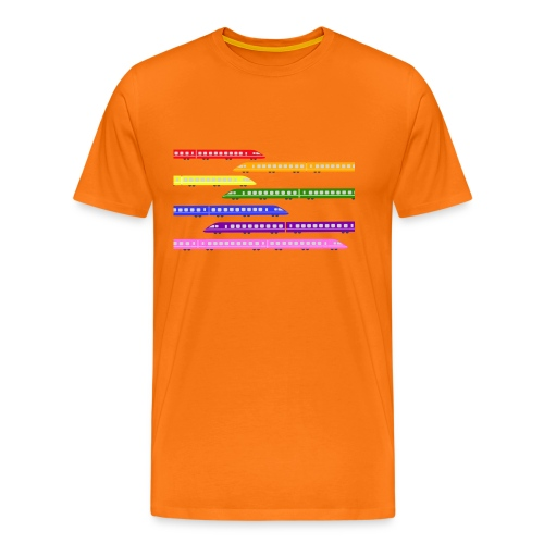 trains t shirt 2 - Men's Premium T-Shirt