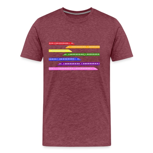 trains t shirt 2 - Men's Premium T-Shirt