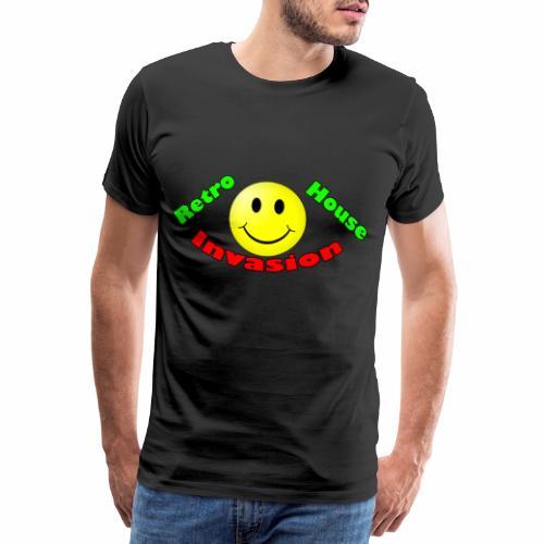 Retro House Invasion - Mannen Premium T-shirt