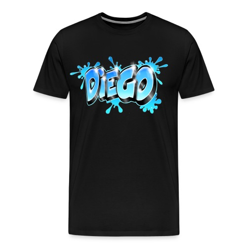 Graffiti prénom Diego - Men's Premium T-Shirt