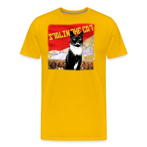 stalinthecat png - Men's Premium T-Shirt