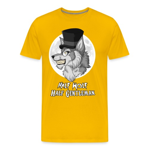 Half Wolf Half Gentleman - Koszulka męska Premium