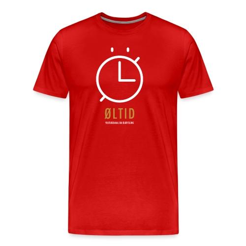 ØLTID logo hvit - Premium T-skjorte for menn