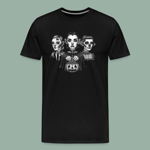 Trick-or-Treat Monsters - Herre premium T-shirt