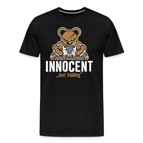 Teddy »Innocent« - Black - Männer Premium T-Shirt
