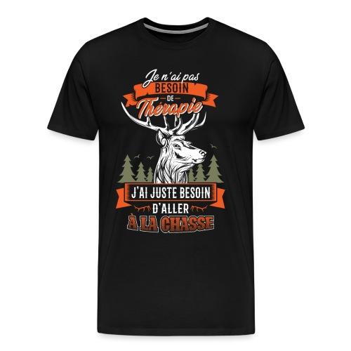 La Chasse Ma Thérapie - T-shirt Premium Homme