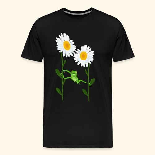 Frosch, Margeriten, klettern - Männer Premium T-Shirt