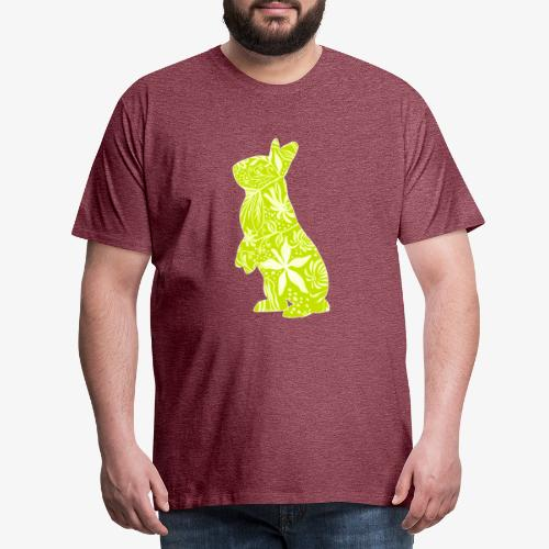 Flower Bunny Lime - Miesten premium t-paita