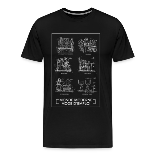 monde moderneblanc png - T-shirt Premium Homme