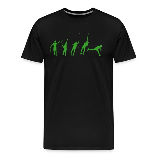 Tennis Serve Stages - Men's Premium T-Shirt