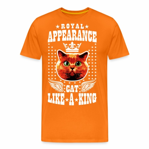 20 Royal Appearance Red Cat like a King Crown - Männer Premium T-Shirt