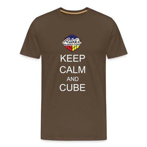 Rubik's Keep Calm - Men's Premium T-Shirt