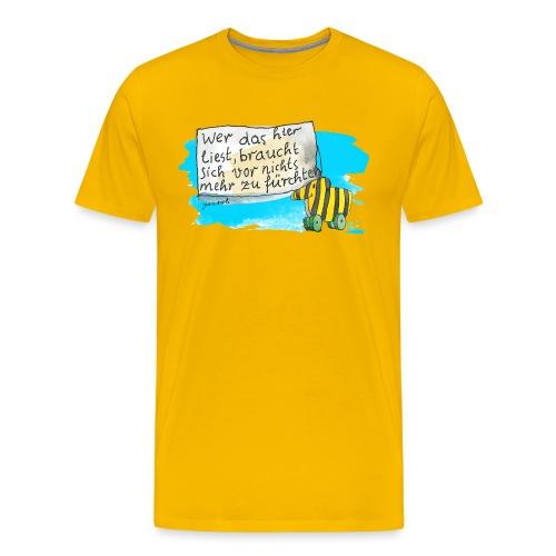 Janosch Tigerente Wer Das Liest Spruch - Männer Premium T-Shirt