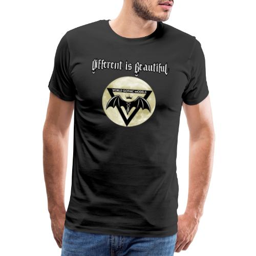 Different is Beautiful with Moon WGM Logo - Men's Premium T-Shirt