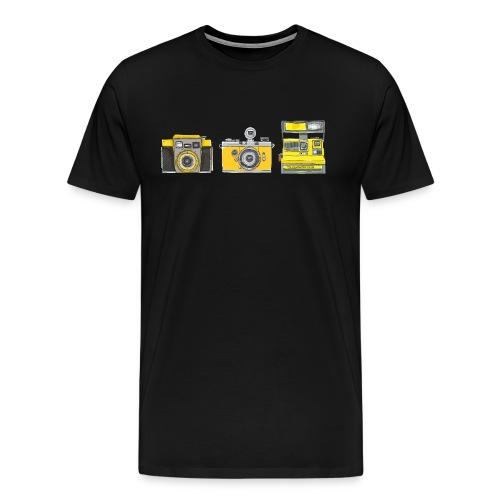 Ilex 3 Yellow Cameras - Men's Premium T-Shirt