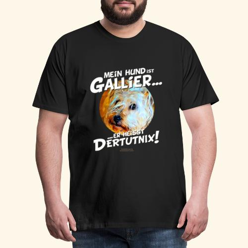 Hunde T-Shirt witziger Spruch für Hundehalter - Männer Premium T-Shirt