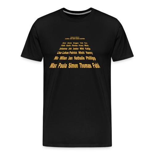 Hinten Einsendung Spreads - Männer Premium T-Shirt