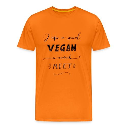 Social Vegan - Männer Premium T-Shirt