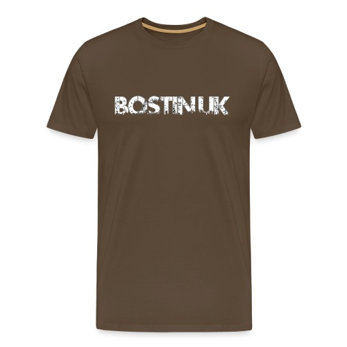 bostin uk white - Men's Premium T-Shirt