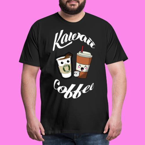 Kawaii - Kaffee Coffee - Männer Premium T-Shirt