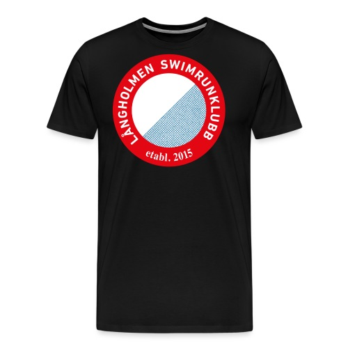 L ngholmen Swimrun Logo Vintage Trans png - Premium-T-shirt herr