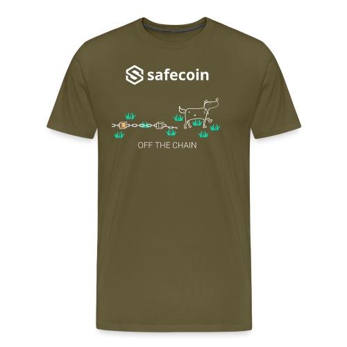 Dogey Chainfree - Off the Chain (White) - Men's Premium T-Shirt
