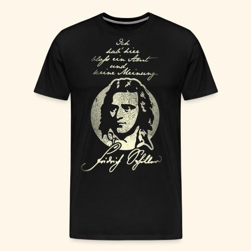 Schiller Zitat T-Shirt Design - Männer Premium T-Shirt