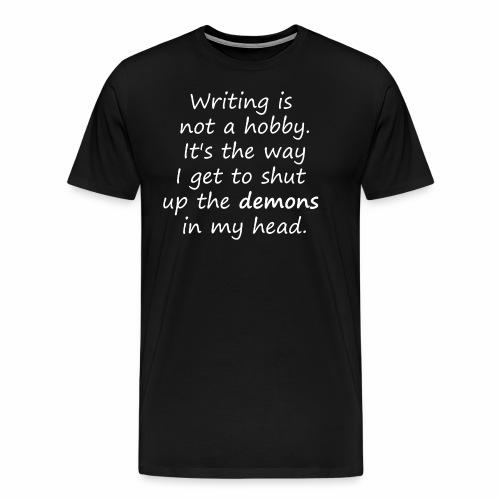 Schreiben für freien Kopf - Schreiber-Motiv - Männer Premium T-Shirt