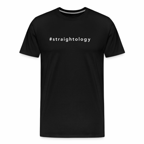 straightologie white - Männer Premium T-Shirt