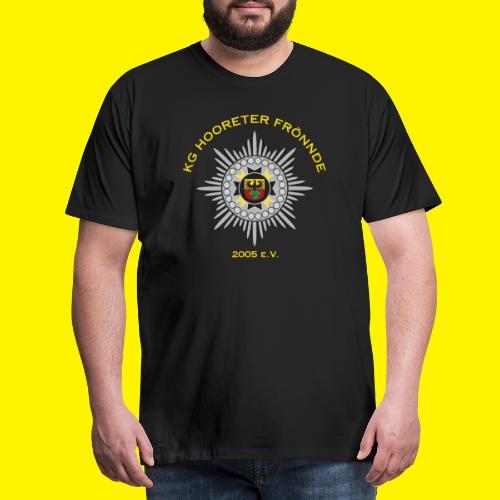 Gelbe Schrift - Männer Premium T-Shirt