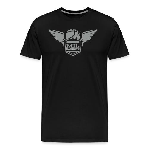 mil logo bw - Männer Premium T-Shirt