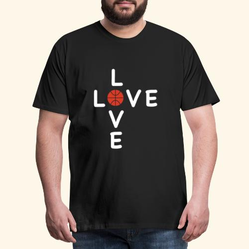 LOVE Cross basketball red 001 - Männer Premium T-Shirt